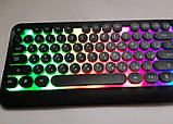 Ігрова клавіатура з підсвічуванням веселка провідна M300 The Rertro Punk Keybord, фото 6