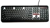 Ігрова клавіатура з підсвічуванням веселка провідна M300 The Rertro Punk Keybord, фото 7
