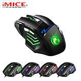 Ігрова мишка з підсвічуванням Imice X7 Black 3200 dpi, фото 5