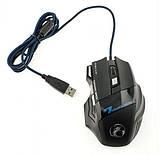 Ігрова мишка з підсвічуванням Imice X7 Black 3200 dpi, фото 6
