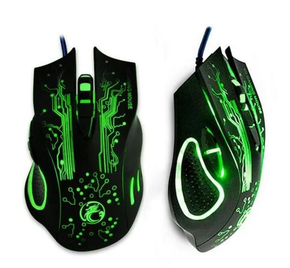 Ігрова мишка з підсвічуванням Imice X9 Black 2400 dpi