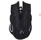 Ігрова мишка з підсвічуванням Imice X9 Black 2400 dpi, фото 7