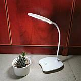 Лампа светодиодная настольная с аккумулятором Белая, фото 2