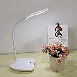 Лампа светодиодная настольная с аккумулятором Белая, фото 3