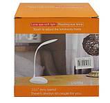 Лампа светодиодная настольная с аккумулятором Белая, фото 10