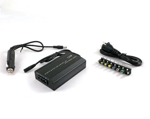 Универсальный адаптер для ноутбука 220В 120Вт 8 насадок MY-121-220V