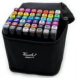 Маркери для скетчинга Touch Coco 48 кольорів для малювання і скетчинга на спиртовій основі в чохлі, фото 2