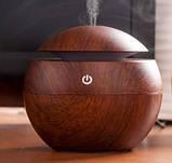 Міні-зволожувач повітря з підсвічуванням і зарядкою від USB Humidifier світло коричневий, фото 6