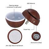 Міні-зволожувач повітря з підсвічуванням і зарядкою від USB Humidifier світло коричневий, фото 7