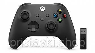 Контроллер черный XBOX Series \ ONE \ PC + беспроводной адаптер Carbon Black