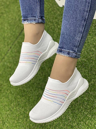 Кросівки жіночі 8 пар в ящику білого кольору 36-41, фото 2