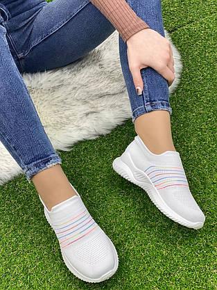 Кросівки жіночі 8 пар в ящику білого кольору 36-41, фото 3