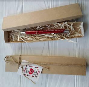 Подарочная упаковка коробочка для ручки с гравировкой