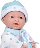 Лялька пупс Беренжер Блакитна - La Baby JC Toys Caucasian 11-inch Small Soft Body Baby Doll, фото 2