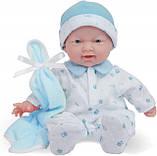 Лялька пупс Беренжер Блакитна - La Baby JC Toys Caucasian 11-inch Small Soft Body Baby Doll, фото 3