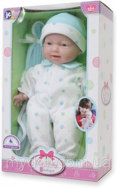 Лялька пупс Беренжер Блакитна - La Baby JC Toys Caucasian 11-inch Small Soft Body Baby Doll