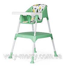 Стільчик для годування-трансформер 3 в 1 Evenflo Y9312-ELBL зелений