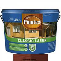 Pinotex Classic Lasur краска для деревянного забора красное дерево 10л