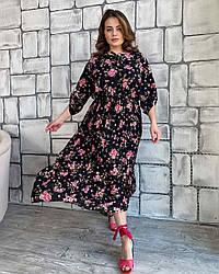 Платье Прованс цветы черный