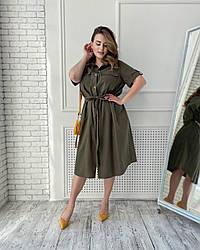 Платье-Рубашка Камелия Хаки