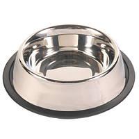 Миска для собак Trixie, металлическая на резине, 1,8л/20см, 24854