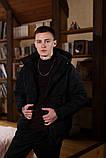 Куртка зимняя Оверсайз черная, фото 2