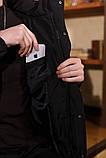 Куртка зимняя Оверсайз черная, фото 7