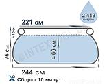 Басейн надувний наливна 28110 (1шт) 244-76см, 2419л, фото 2