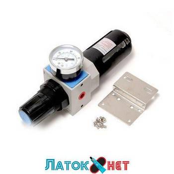 Фильтр-регулятор с индикатором давления для пневмосистем Profi 3/8 F-EW4000-03 Forsage