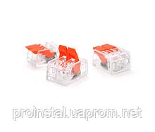 Клемма с нажимными зажимами 2-проводная PROinstal K221-412 для распределительных коробок, 2-pin,
