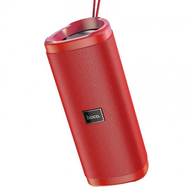 Портативная Bluetooth колонка Hoco HC4 Bella sports с влагозащитой IPX5 (BT 5.0, AUX, USB, MicroSD) Red
