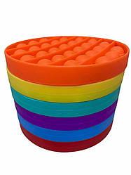 Pop It сенсорна іграшка, пупырка, поп іт антистрес, pop it fidget, попит, фіолетовий коло