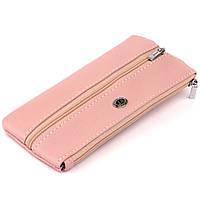 Ключница-кошелек с кармашком женская ST Leather 19353 Розовая, фото 1