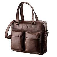 Чоловіча шкіряна сумка для ноутбука SHVIGEL 19109 Коричнева, фото 1