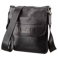 Мужская кожаная сумка месенджер SHVIGEL 19113 Черная, фото 1