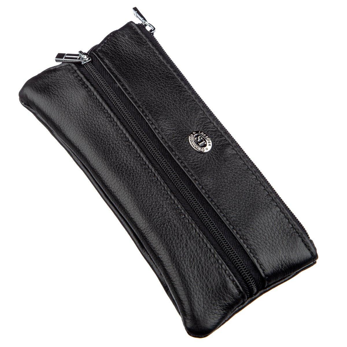 Чоловіча компактна ключниця ST Leather 18838 Чорний
