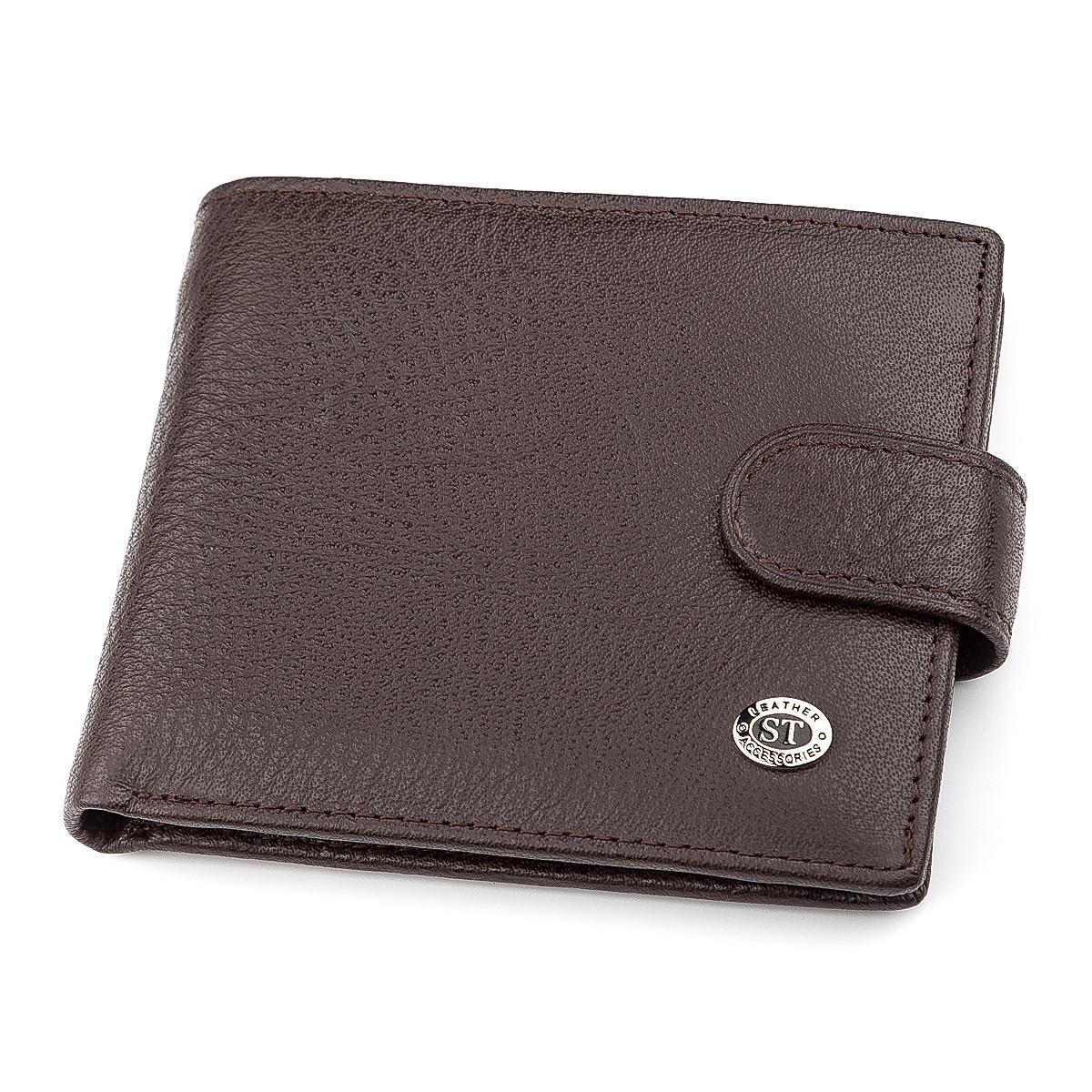 Мужской кошелек ST Leather 18307 (ST104) кожаный Коричневый