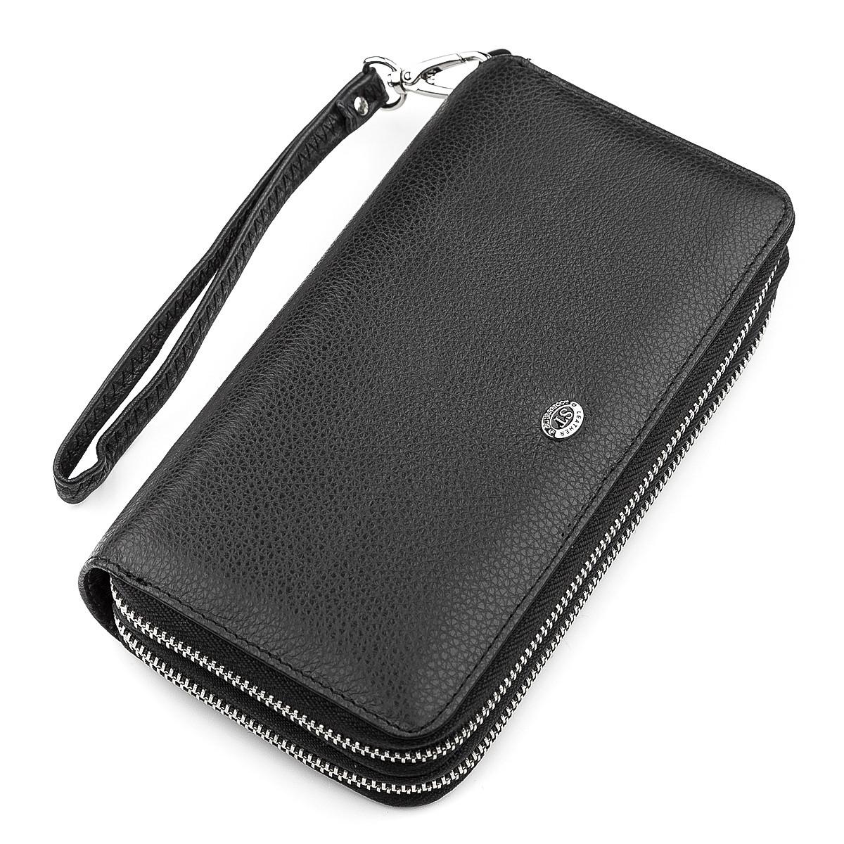 Мужской кошелек ST Leather 18451 (ST127) натуральная кожа Черный