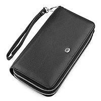 Мужской кошелек ST Leather 18451 (ST127) натуральная кожа Черный, фото 1