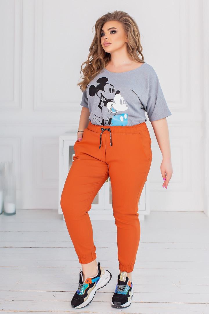 Женские штаны батал, джинс - бенгалин, р-р 48-50; 52-54; 56-58 (морковь)