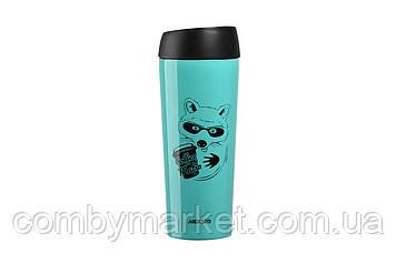 Термочашка Ardesto Coffee time Raccoon 450 мл голубая (AR2645DTB)
