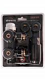Термостатичний  комплект для нижнього підключення радіаторів Invena типу DUOPLEX, 50мм, чорний, CZ-91-015, фото 2