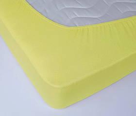 Простирадло махрова на резинці Lotus - Жовта 160*200+25