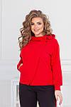 Спортивний костюм жіночий батал, двунить, р-р 48-50; 52-54; 56-58 (червоний), фото 4