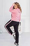 Спортивний костюм жіночий батал, двунить, р-р 48-50; 52-54; 56-58 (рожевий), фото 4