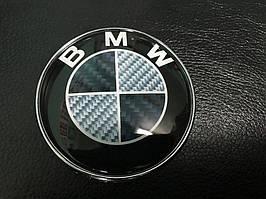 BMW 5 серія E-34 1988-1995 рр. Емблема Карбон, Туреччина (d83.5мм)