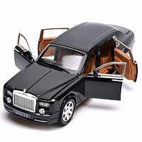 Роллс Ройс игрушка моделька машинка металлическая ТК Union Group свет звук открываются двери инерция Черная
