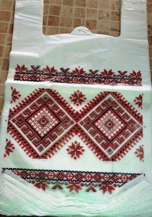 Пакет майка Вишиванка 30х50 (100шт)