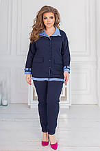 Жіночий костюм батал, джинс - бенгалин, р-р 48-50; 52-54; 56-58 (джинс)