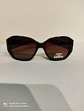 Солнцезащитные Очки женские SWAROVSKI (реплика) Polaroid (polarized) с поляризацией и градиентом, коричневые